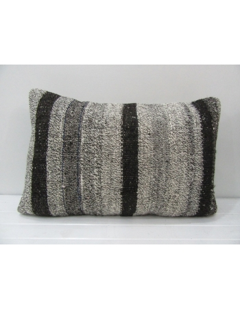 Gray & Black Vintage Kilim Pillow