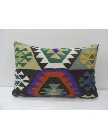 Vintage Colorful Turkish Kilim Pillow