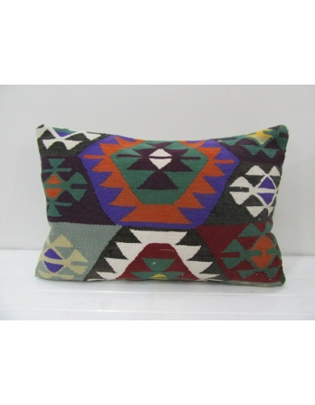 Colorful Handmade Vintage Kilim Pillow