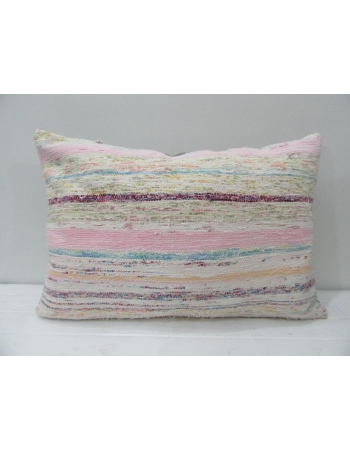 Vintage Pink Striped Unique Pillow