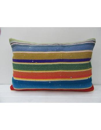 Vintage Colorful Striped Kilim Pillow