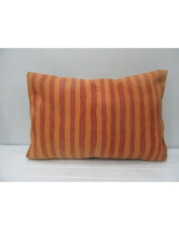 Orange & Rust Striped Vintage Kilim Pillow