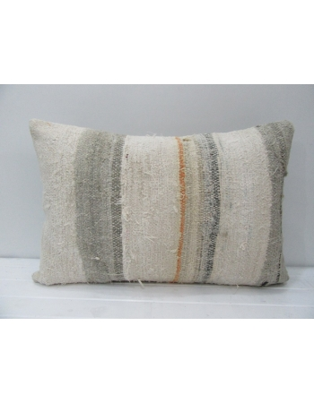 Beige & Gray Striped Kilim Pillow