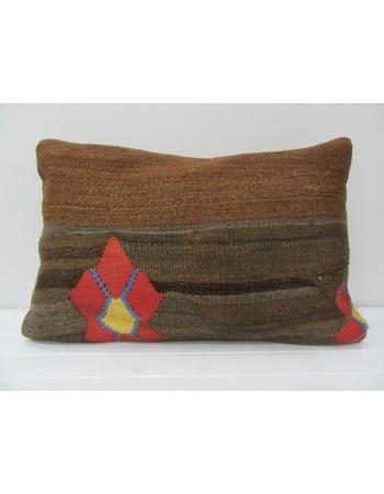 Brown & Orange Kilim Cushion Cover