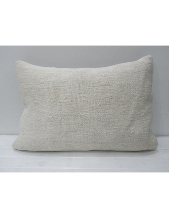 Vintage White Hemp Kilim Pillow