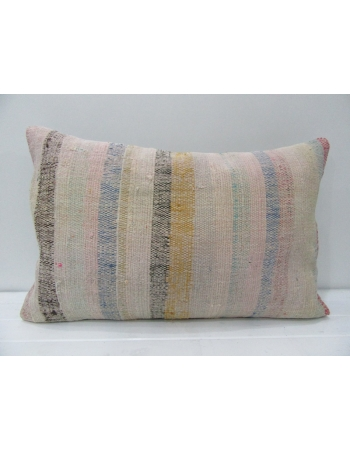 Tan & Beige Striped Kilim Pillow