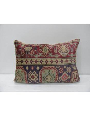 Green & Burgundy Handmade Cushion Cover