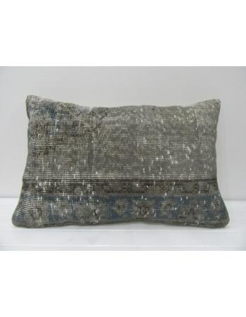 Gray Overdyed Vintage Pillow