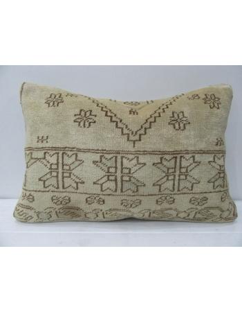 Beige & Brown Handmade Vintage Pillow