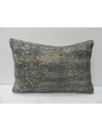 Gray Re-Dyed Vintage Handmade Pillow