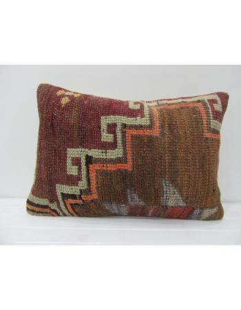 Brown & Burgundy Vintage Handmade Pillow