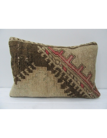 Brown & Coral Vintage Handmade Pillow