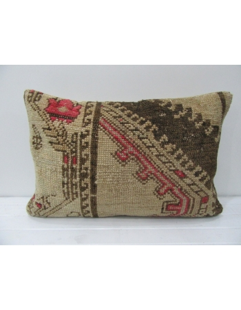 Coral & Brown Decorative Handmade Pillow