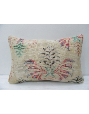 Cream & Red Floral Vintage Handmade Pillow