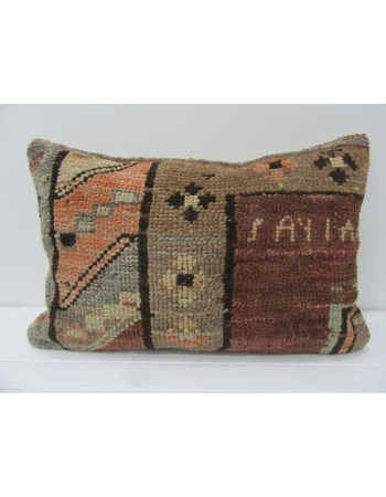 Handmade Vintage Orange & Brown Pillow