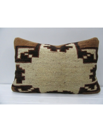Vintage Brown & Beige Decorative Handmade Pillow