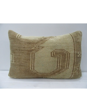 Handmade Vintage Beige & Brown Pillow