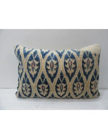 Antique Unique Beige & Blue Handmade Pillow