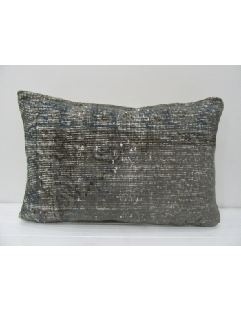 Vintage Gray Overdyed Handmade Pillow