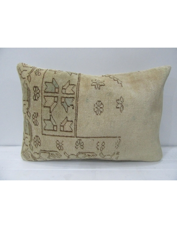 Vintage Abstract Beige & Brown Pillow