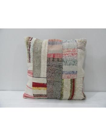 Vintage Handmade Kilim Patchwork Pillow