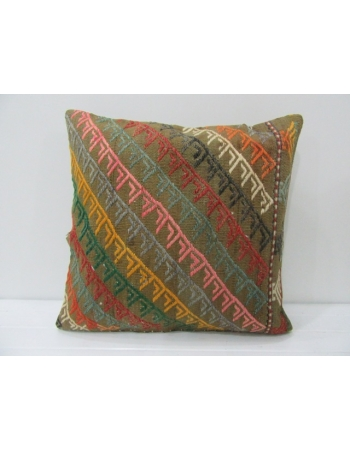 Vintage Embroidered Kilim Cushion Cover