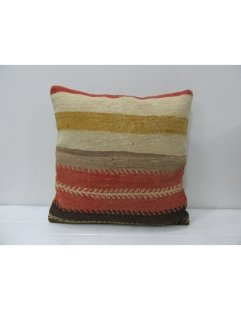 Handmade Striped Wool Kilim Pillow