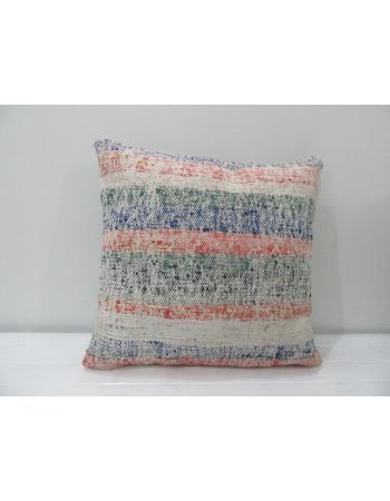 Handmade Striped Turkish Kilim Pillow