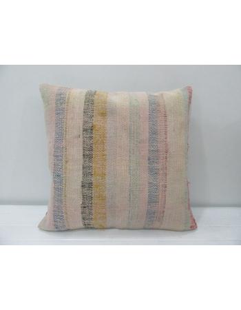 Vintage Striped Unique Kilim Pillow