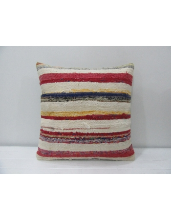 Vintage Red / White Kilim Pillow