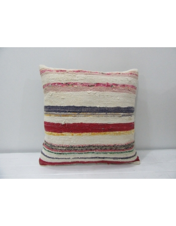Vintage Striped Rag Kilim Pillow