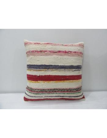 Vintage Striped Rag Kilim Pillow