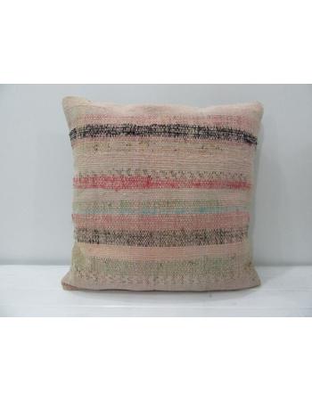 Tan Striped Turkish Kilim Pillow