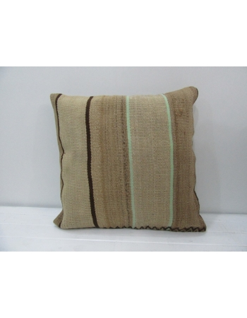 Vintage Brown Turkish Kilim Pillow
