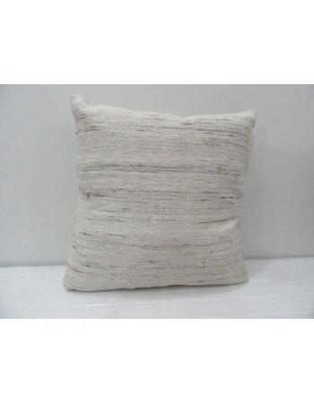 Vintage Gray Turkish Kilim Pillow