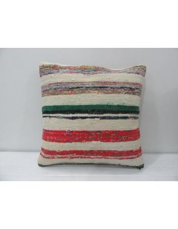Striped Vintage Turkish Kilim Pillow