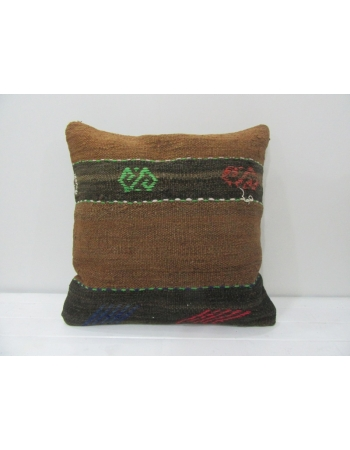 Vintage Brown Kilim Cushion Cover