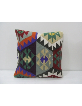 Vintage Colorful Turkish Kilim Pillow
