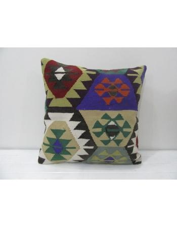 Colorful Vintage Turkish Kilim Pillow