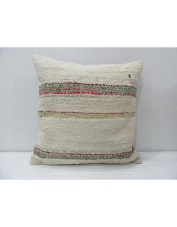 Handmade Vintage Striped Kilim Pillow