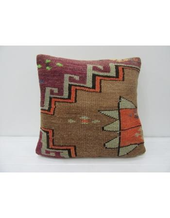 Purple & Brown Vintage Decorative Pillow