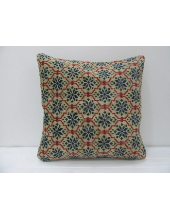 Rust & Beige Vintage Handmade Pillow
