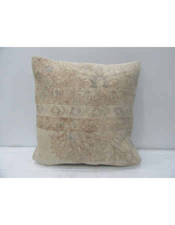 Vintage Floral Beige & Tan Pillow