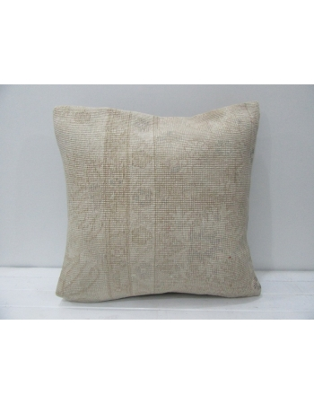Faded Vintage Beige & Cream Pillow Cover