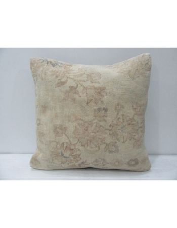 Floral Vintage Beige & Tan Handmade Pillow