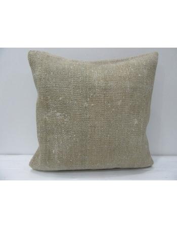 Plain Vintage Decorative Beige Pillow