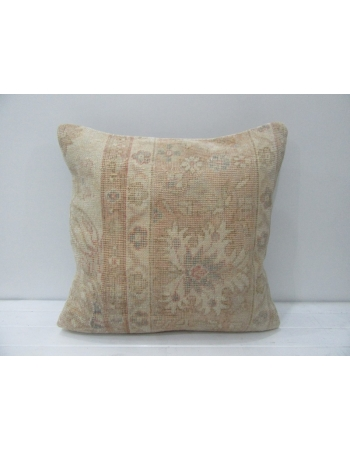 Floral Vintage Tan & Beige Handmade Pillow