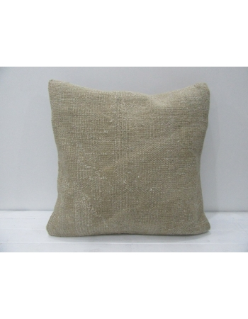 Plain Handmade Vintage Beige Pillow