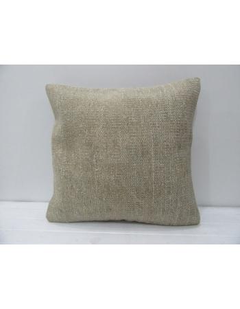 Plain Beige Handmade Decorative Pillow