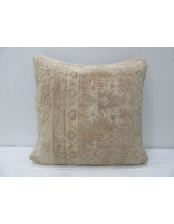 Vintage Tan & Beige Floral Cushion Cover